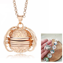 Magic Box 4 photos Locket Pendant Necklace Women Jewelry Gift For Family &Friend Angel Wings Floating Pictures