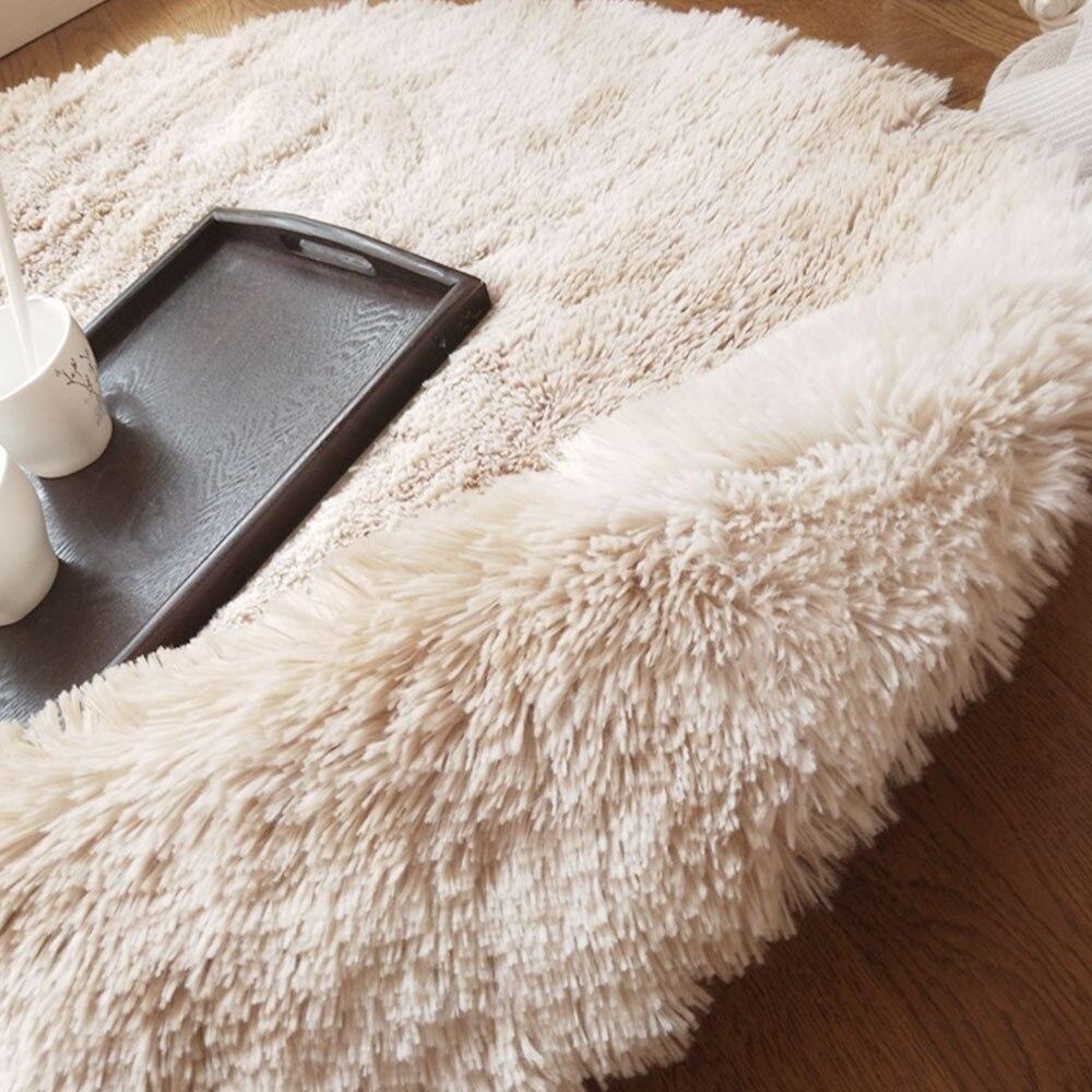 Tapis multicolore tapis moelleux Shaggy anti-dérapant salle à manger salon tapis plancher pour canapé livraison directe Fiber de Polyester