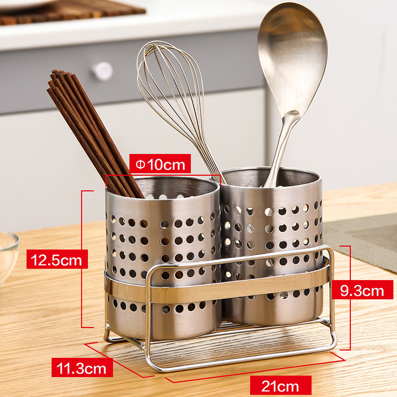 ORZ Kitchen Tableware Shelving Holder Cutlery Storage Drain Rack Shovel  Spoon Bucket Knife Fork Storage Basket Kitchen Organizer In Racks U0026 Holders  From ...