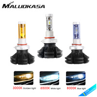 Car Headlight Bulbs H4 H7 H11 LED H1 H3 H8 H27 9005 9006 12V 50W/pair ZES LED Headlamp Front Fog Lights New Car Light