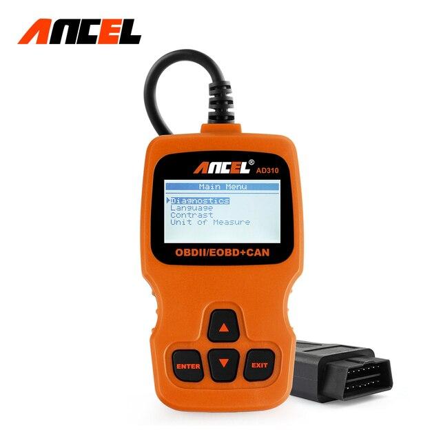 100% Original ANCEL AD310 Hand-held OBD2 OBDII Scanner for Car Diagnostics Fault Code Reader Orange Color AD310 Diagnostic Tool