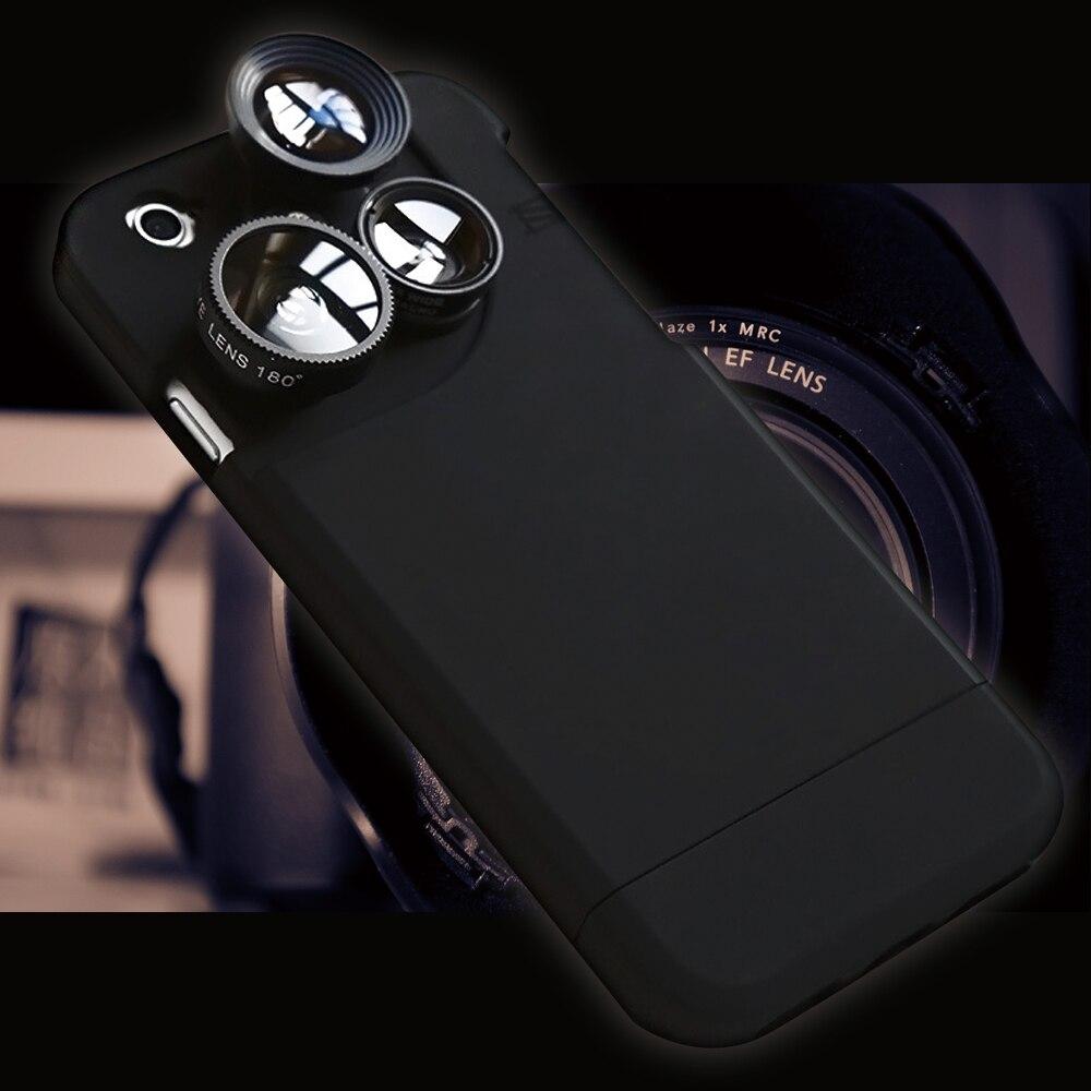 imágenes para Caja del teléfono para el iphone de apple 5 5S lente gran angular 6 6 s 6 más 7 7 plus cubierta distintivo cámara cubierta de la lente de ojo de pez protector