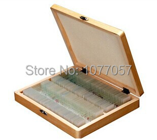 Hot Sale! CE, ISO ,200 PC Prepared Microscope Glass Slides  for Various Plants, Insects and Animal Tissues (SET A & B) fixed set teaching resources university students study 78pieces medical parasite prepared microscope slides
