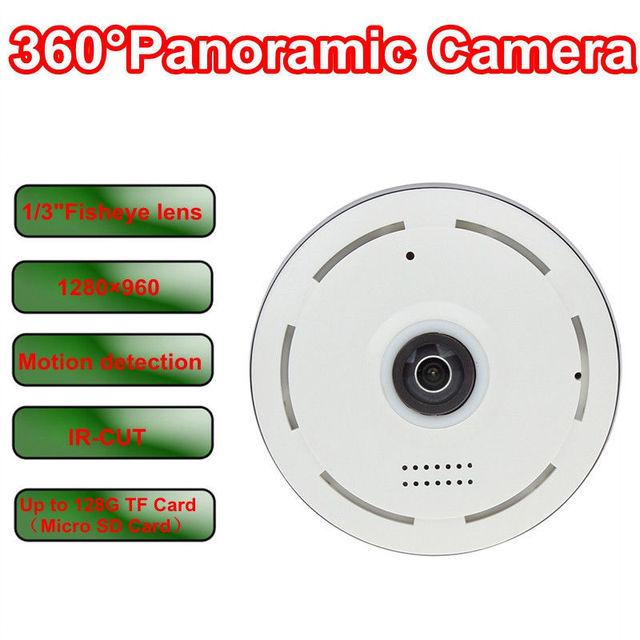 """Frete grátis! 960 P Rede Cilíndrico HD 360 Graus Fisheye Câmera IP P2P Wi-fi 1/3 """"Olho de Peixe"""