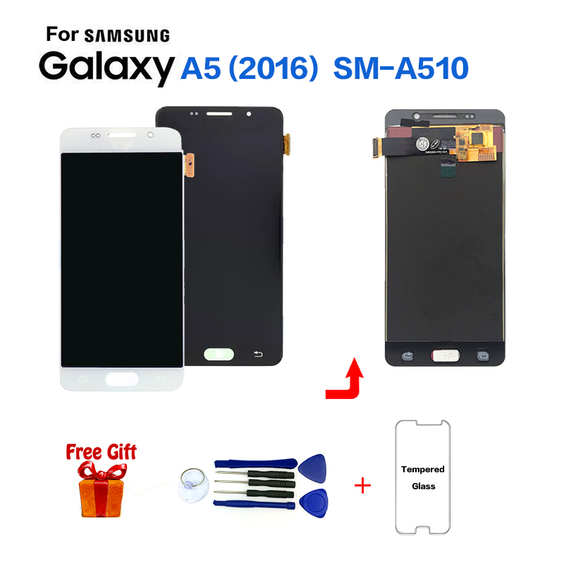TFT For <font><b>SAMSUNG</b></font> Galaxy A5 2016 A510 SM-<font><b>A510F</b></font> <font><b>LCD</b></font> Display Screen replacement for <font><b>Samsung</b></font> SM-A510FD A510M A5100 display <font><b>lcd</b></font> screen image
