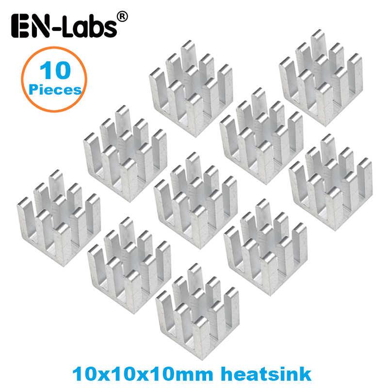 En-Labs10pcs アルミ電子チップヒートシンクラジエーターオプション 3M8810 熱両面粘着テープ、 10 × 10,13 × 13,14 × 6,14 × 14