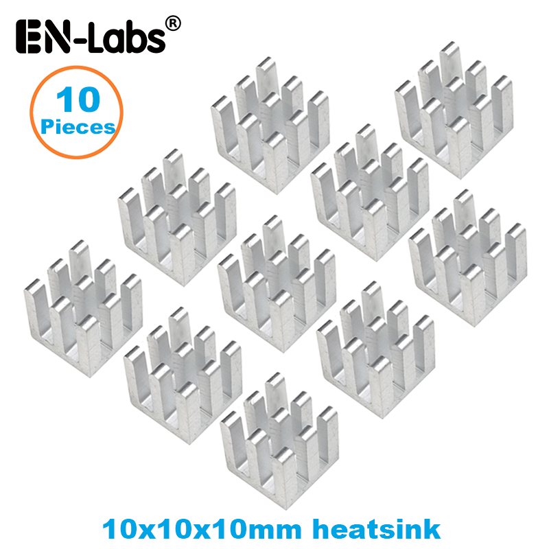 En-Labs10pcs Aluminum Electronic Chip Heatsink Radiator Optional 3M8810 Thermal Double Side Adhesive Tape,10X10,13X13,14X6,14X14