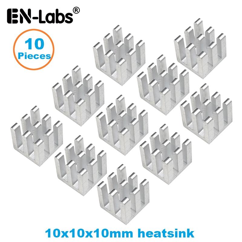 En-Labs10pcs Aluminum Electronic Chip Heatsink Radiator Optional 3M8810 Thermal Double Side Adhesive Tape,10X10,13X13,14X6,14X14