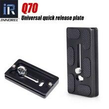 Placa de liberación rápida Universal Q70 para rótula de bola de trípode panorámica Compatible con especificaciones de Arca Swiss. QR accesorios de cámara DSLR