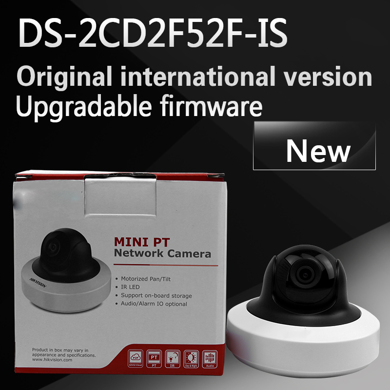 DHL free shipping english version DS-2CD2F52F-IS 5MP WDR Mini Day & Night Dome Network Camera with aduio replace DS-2CD2F55F-IS free shipping green day band tre green day cd t shirt cd set sealed
