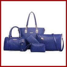 6 sätze frauen handtaschen berühmte marken frauen messenger bags frauen tasche taschen geldbörse mode aus echtem leder handtasche damen tote