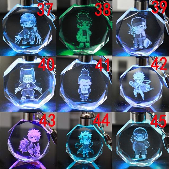 Аниме брелок светодиодный кристалл Наруто в ассортименте