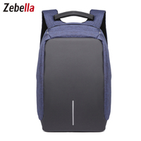 Zebella Fashion Men's USB Backpack Waterproof Business Anti-theft Backpacks Oxford Mochilas Notebook Back pack Swiss Escolar Bag