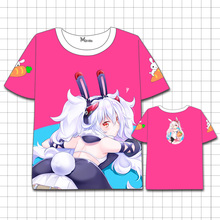 Azur Lane T-shirt Men Women Short Sleeve Summer dress Cosplay Costumes Game Characters  The unicorn t shirt