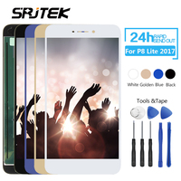 Srjtek For HUAWEI P8 Lite 2017 LCD Display Panel With Touch Screen Digitizer Full Assembly Frame