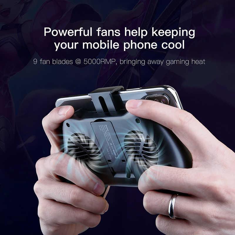 Baseus мобильный телефон кулер для iPhone Xs Max Xr X samsung S10 S9 huawei P30 P20 Pro геймпад игры держатель подставка для охлаждения контроллер