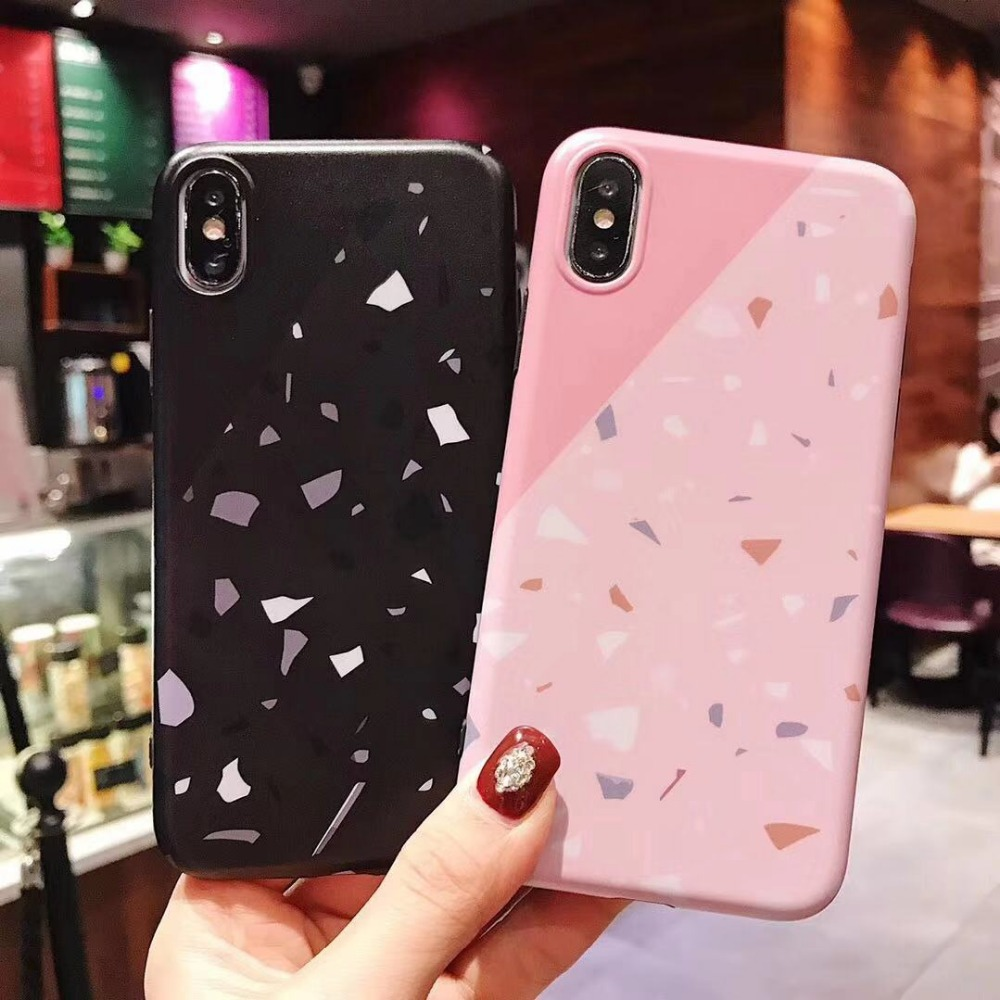 Brand new marble phone case for iPhone7 8 6 6s cover iPhone X XR Xsmax Decorative pattern Mobile shell coque