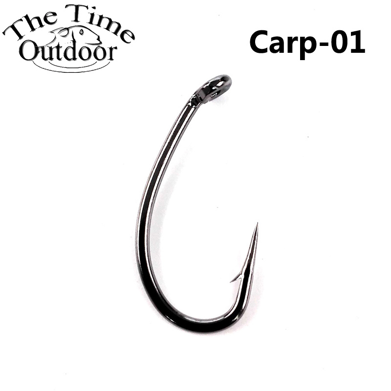 Carbon Steel Fishing Hook Jig Hooks Fishhooks with Hole Fish Fly Fishing Tackle
