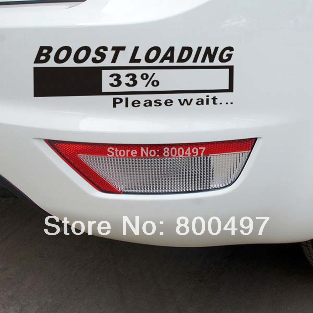 Bumper sticker maker free online - Newest Design Funny Car Stickers Turbo Charger Boost Loading Car For Tesla Volkswagen Ford Chevrolet Honda
