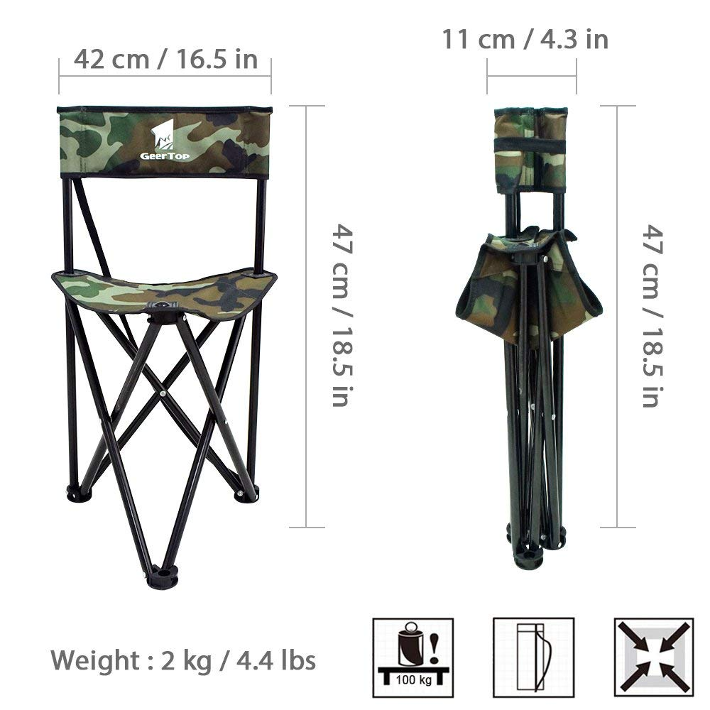 Strange Us 36 97 14 Off Geertop Backrest Folding Camping Chair Fishing Beach Tripod Stool Compact Portable Aluminum Seat With Shoulder Strap For Outdoor In Inzonedesignstudio Interior Chair Design Inzonedesignstudiocom
