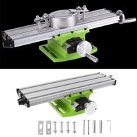 Mini Milling Machine Work Table Vise Portable Compound Bench X Y 2 Axis Adjustive Cross Slide Table for Bench Drill Press