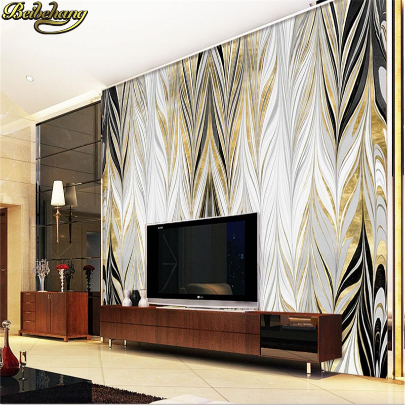 beibehang Custom photo wallpaper murals Jane light luxury wind gold abstract texture wall background papel de parede wall paper