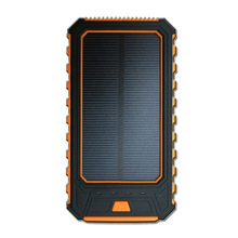 1x Wama Solar Panel Charger dual-USB 10000mAh 2W 2.1A Power Bank Waterproof Outdoors Portable Over-charge Protected