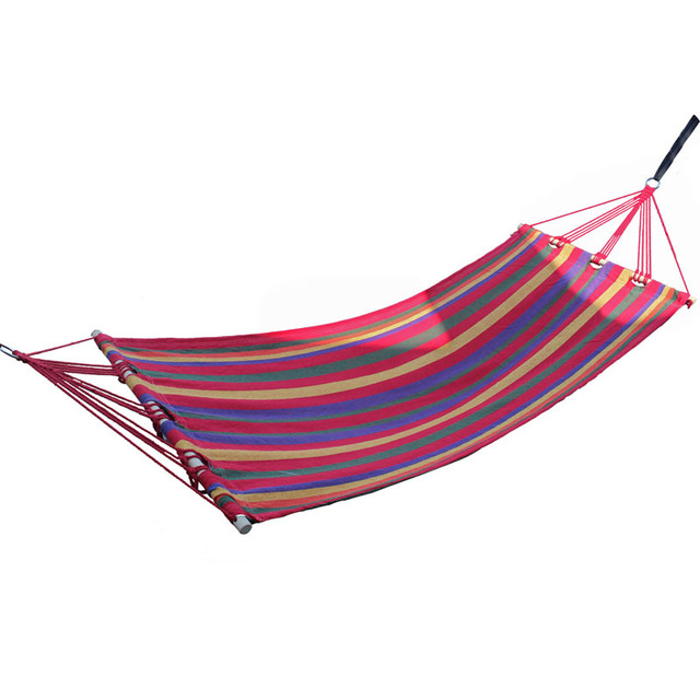 200*80cm bearing 150kg outdoor camping swing thickening large casual canvas hammock