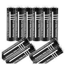 10 stks/partij Hoge Kwaliteit Lithium Li ion Oplaadbare Batterij 18650 Batterijen 3.7 V 6000 mAh voor Zaklamp Zaklamp Gratis verzending