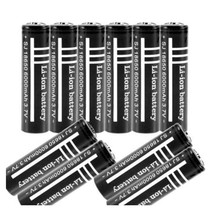 10Pcs/lot High Quality Lithium Li ion Rechargeable Battery 18650 Batteries 3.7V 6000mAh for Flashlight Torch Free shipping