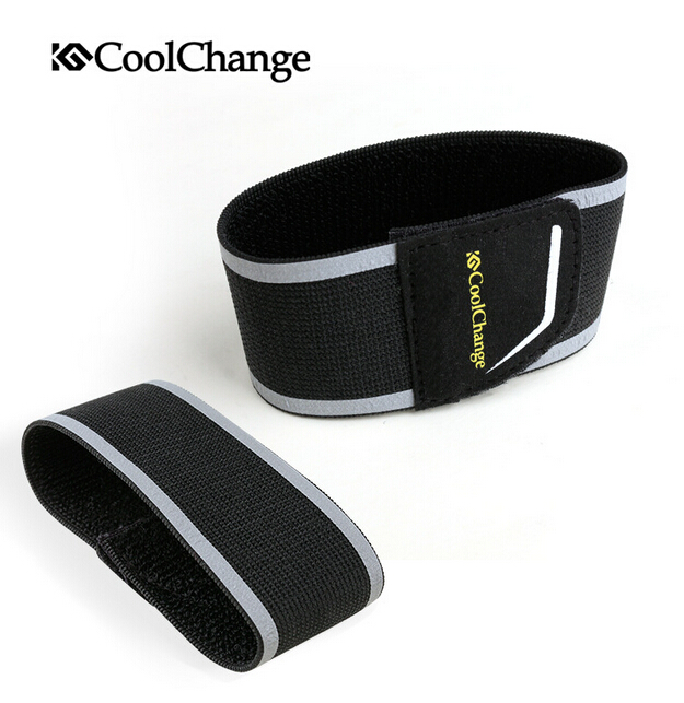 CoolChange Bicycle Beam Waist Trousers Belt Night Cycling Sports Running Safety Reflective Tape 50mm Width Bike Accessories