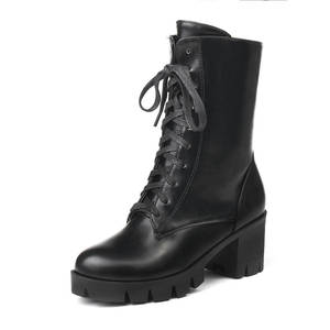 Image 2 - MORAZORA 2020 new style ankle boots for women round toe autumn winter boots zipper lace up platform boots punk shoes woman