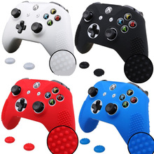 Silicone Case Protective Skin Cover Wrap Case For Xbox One S Slim Controller Joystick Gel Rubber With 2Pcs Thumb Sticks