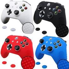 Funda protectora de silicona, funda de envoltura para Xbox One S, controlador Delgado, Joystick Gel Rubber con 2 uds.