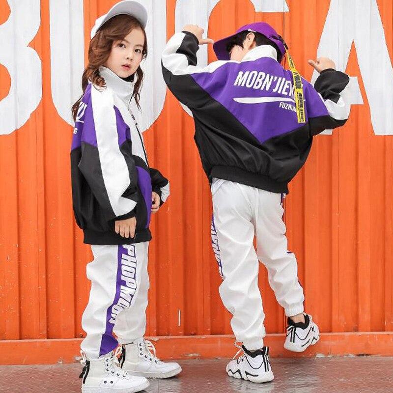 Niños chaqueta de salón camisa Jogger pantalones trajes de baile niñas niños competiciones Jazz moderno Hip Hop ropa Ropa de baile
