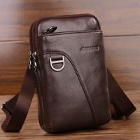 Мужская сумка через плечо из натуральной кожи, модная сумочка для кошелька,телефона и ключей 1