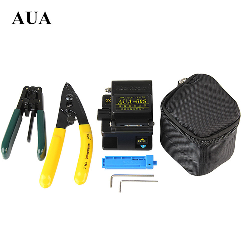 FTTH Fibertool kits metal Cleaver AUA 60S fixed length device Miller clamp covered wire stripping