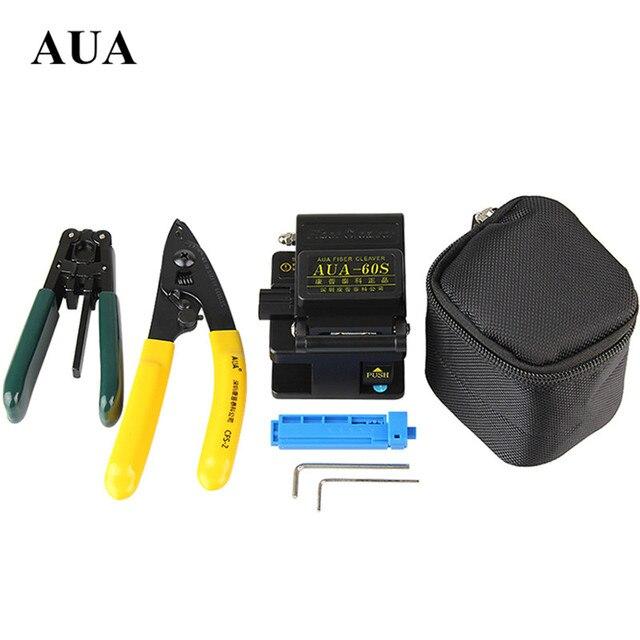 FTTH kit Mannaia metallo Fibertool AUA 60S + lunghezza fissa dispositivo + Miller clamp + coperto di spogliatura del legare