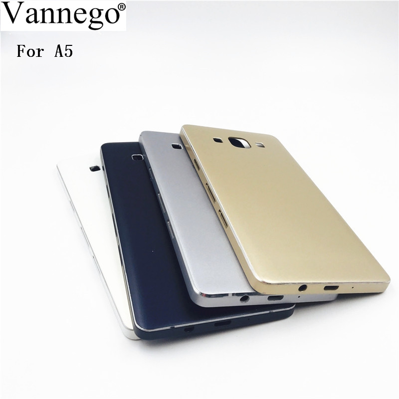 Vannego Housing Battery Cover For Samsung Galaxy A5 2015 A500 A5000 SM A500F Back Door Case Replacement Parts Battery Cover Case|Mobile Phone Housings & Frames| |  - title=