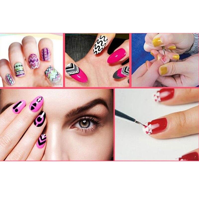 Nieuwe 1 stks nail brush 7 / 14mm crystal acryl nagels art borstels - Nagel kunst - Foto 6