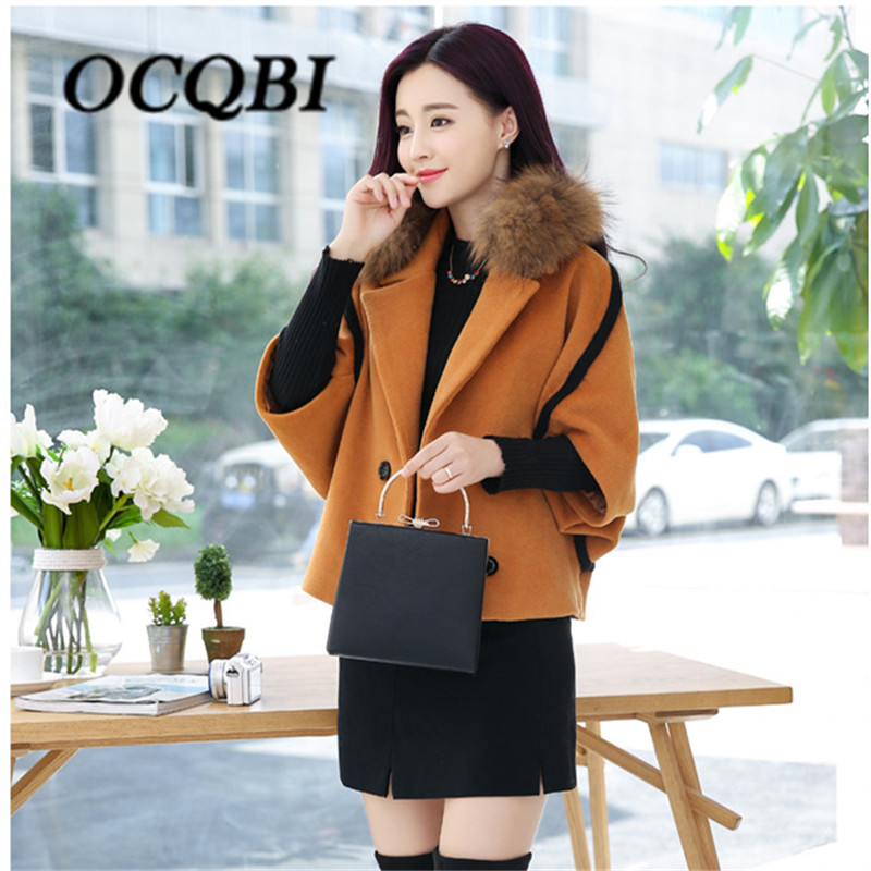 Spring Elegant Women Slim Coat Fur Color Short Sleeve High Quality Streetwear Red Yellow Coat 2018 13