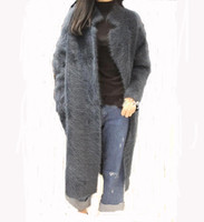 LOVELYDONKEY mink cashmere sweater women cashmere cardigan knitted mink jacket fashion winter long fur coat free shipping