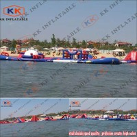 Commercial Rental Professional Inflatable Floating Water Park, Affordable price customized Lake Park