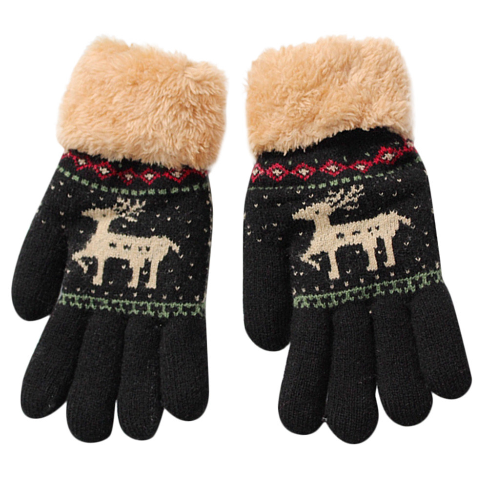 Gloves Cute Winter Baby Gloves Mittens Children Full Finger Keep Warm Solid Colors For Sport Cycling Fishing Snowboard Running Boys' Baby Clothing