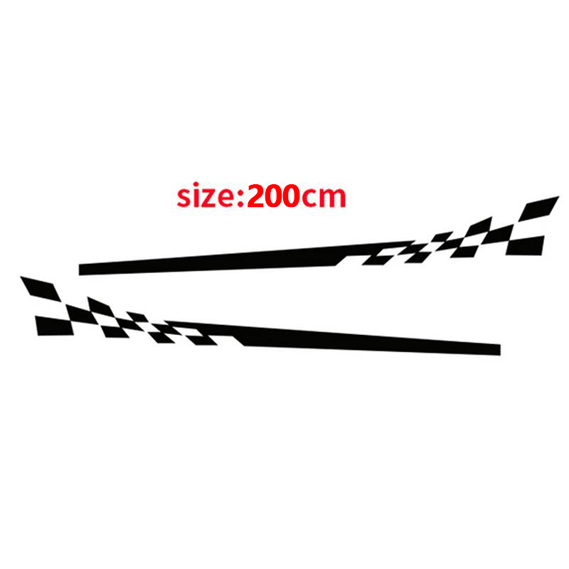 Image 4 - 2x Universal Racing Graphic Stripe Stickers Auto Car Body Side Door Vinyl Decals-in Car Stickers from Automobiles & Motorcycles