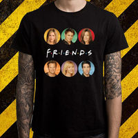 New FRIENDS 90 S Best TV Series Show Men S Black T Shirt Size S To
