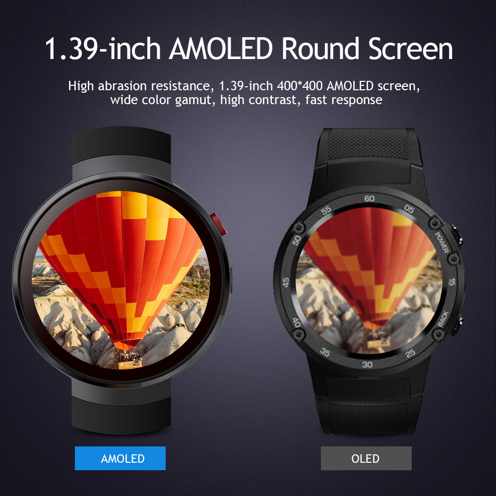 lemfo lem7 android 4g lte smart watch phone with heart rate monitor and camera for men