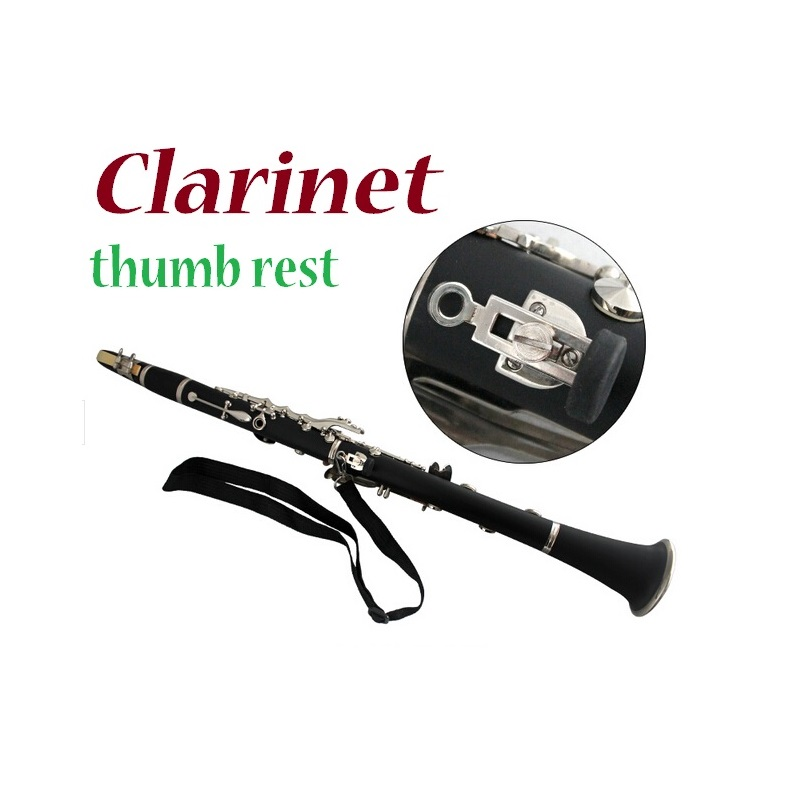Clarinet Accessories stable Clarinet thumb rest, can hang straps, perfect for adjustable thumb rest gold thumb rest for bass guitar 2pcs