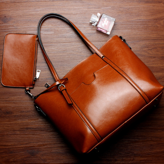 2017 genuine leather women bag fashion Women Handbag Large Shoulder Bags Elegant Ladies Tote Satchel Purse Top-handle bags