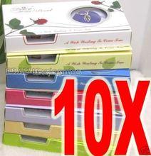 Lote de 10 Caixas de Presente da moda Por Atacado pingente de coração Desejo Pérola conjunto De Colar Espera vir Frete grátis true who3621